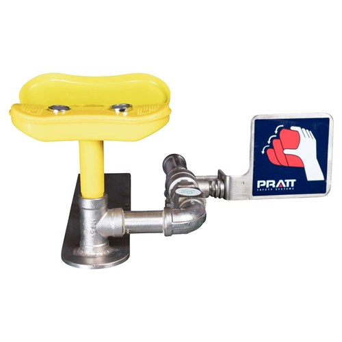 PRATT Wall Mounted Triple Nozzle Eye & Face Wash No Bowl. No Foot Treadle